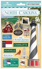 Scrapbooking Crafts Stickers 2D North Carolina Light House Speedway Barn Raleigh