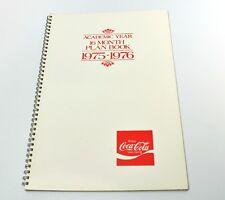 Coca-Cola Kalender Ringblock - Academic Year 16 Month Plan Book USA 1975-1976