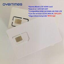 Lot Blank Usim Sim Card 128k Lte Programmable Iccid Imsl Adm Ki Opc Op Comp128