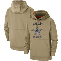 2019 NFL Dallas Cowboys Football Hoodie Salute to Service Sideline Pullover Coat