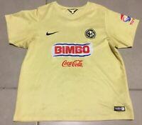 Womens 2014 Club America Mexico Sz XL soccer futbol jersey yellow CAMPEON mexico
