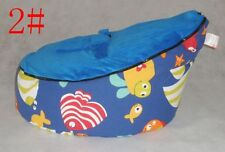 Canvas Animal Bule Baby infant Bean Bag Snuggle Bed Portable Seat No Filling