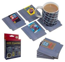 Nintendo Entertainment System NES Game Cartridge Coasters 8 Pack