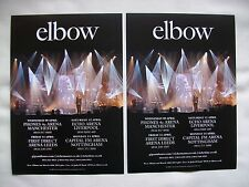ELBOW/Guy Garvey Live in Concert 2014 UK Arena Tour Promotional tour flyers x 2