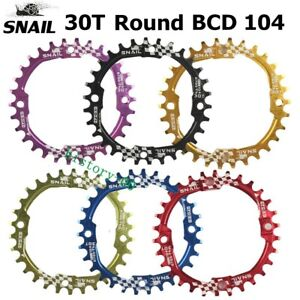 30T SNAIL MTB Road Mountain Bike Single Narrow Wide Round Chainring BCD 104mm