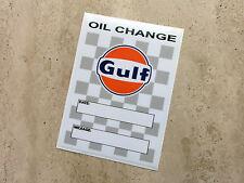 Gulf Oil Change sticker 75 x 105 mm  - Gulf Licensed Merchandise