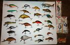 MIXED LOT 30 VINTAGE OLD FISHING LURES SPINNER L&S BASSMASTER BLUE FOX FINLAND