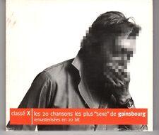 (HG571) Classe X, Les 20 Chansons les plus 'sexe' de Gainsbourg - 1998 CD