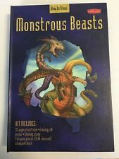 MONSTROUS BEASTS HOW TO DRAW BOOK WALTER FOSTER 32 PAGES PROJECT BOOK W DRAW PAD