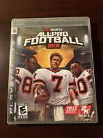 All Pro Football 2K8 2k Sports Sony PlayStation 3 PS3 Complete With Manual CIB