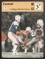 COLLEGE FOOTBALL ALL-STAR GAME NCAA Photo 1978 SPORTSCASTER CARD 21-18C