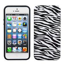 Apple iPhone 5 5S SE TPU CANDY Gel Flexi Skin Case Phone Cover Zebra Accessory