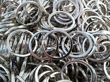 100 Key Rings 24mm (Quarter Size) Split Ring *