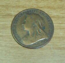 1901 british penny VICTORIA  DEI GRA BRITT REGINA FID DEF IND IMP ONE PENNY
