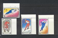 Mongolia 1988 Winter Olympics/Sport/Skiing 4v  (n17594)