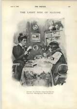 1898 David Patrick NUOVO DIZIONARIO biografiche diga per mantenere l'acqua RETRO CARTOON