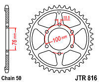 Suzuki GSF1200 Bandit 1995 to 2004 Models JT Rear Drive Sprocket