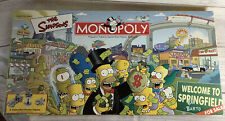 "The Simpsons Monopoly Board Game ""Welcome To Springfield""  2001 Complete"