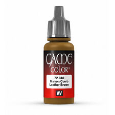 Vallejo Game Color: Leather Brown - VAL72040 Acrylic Model Paint 17mm Bottle