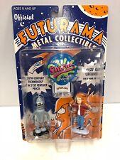 Futurama Metal Coleccionable Bender y Fry Set de Figuras Cohete EEUU 2001