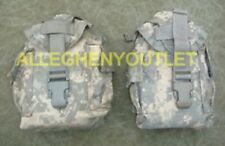 Lot of 2 TWO USED / Excellent / Canteen Pouch ACU MOLLE II Foliage Green