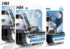 (+ W5W Parkers!) PHILIPS HB4 9006 CRYSTAL VISION 4300K HALOGEN BULBS 12V 55W