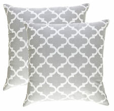 TreeWool, (2 Pack) Cotton Canvas Trellis Accent Decorative Throw Pillow Covers
