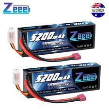 2pcs Zeee 5200mAh 50C 7.4V 2S LiPo Battery Deans Hardcase for RC Boat Car Truck