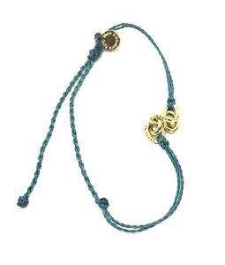 Pura Vida Teal Chain Surfer Bracelet