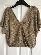 MNG Gold Top UK S New With Tags