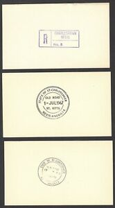 St Christopher Nevis Anguilla proof impressions of postmarks on cards (16)