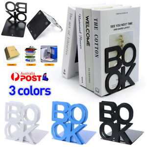 2PCS Heavy Duty Metal Bookends Book Ends Office Decorative Stationery Supplies