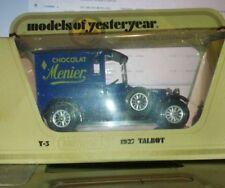 MATCHBOX MOY DIECAST MODEL TALBOT 1927 VAN Y3 MENIER CHOCOLAT
