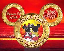 5x7 CUSTOM Disney Cruise Door Magnet - ANNIVERSARY # 2 sunset & portholes