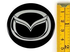 "MAZDA *4 x NEW* Emblems 50mm (2"") WHEEL CENTER CAP STICKERS 3D DECALS"
