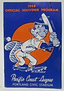 1968 PCL PORTLAND BEAVERS v SPOKANE Program PACIFIC COAST LEAGUE PCL baseball