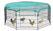 Pet Playpen 8 Chicken Coop Panel Exercise Fence Pen Cage Crate Rabbit Enclosure