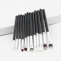 FJ- LK_ EG_ 12Pcs Makeup Brush Set Eyeshadow Eyeliner Foundation Cosmetic Concea