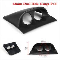 Black 2inch 52mm Car Dual Dash Gauge Meter Pod 2 Hole Dashboard Mount Holder