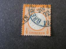 *GERMANY, SCOTT # 8,2gr VALUE ORANGE IMPERIAL EAGLE EMBOSSED 1872 ISSUE USED.