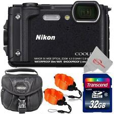 Nikon COOLPIX W300 16MP Digital Camera Black + 32GB Accessory Kit