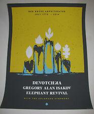 DEVOTCHKA  - GREGORY ALAN ISAKOV Red Rocks 2014 Concert Poster 18x24 Gig Print