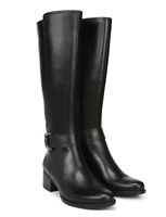 Naturalizer Women Knee High Boots Kelso Size US 5M WC Black Leather Wide Calf