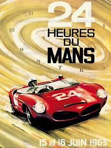 ADVERT MOTOR SPORT RACE LE MANS 24 HOURS 1963 NEW ART PRINT POSTER CC4755