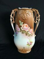 Antique Floral Vase Victoria Schmidt & Co. c.1918-1938