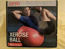 """SPRI Xercise (exercise) Ball ~ Red ~ 65cm (5'8""""-6'3"""")"""