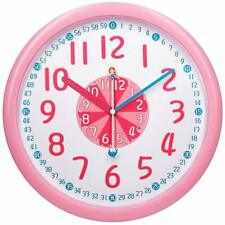 """Kids Teaching Wall Clock Silent 12"""" Large Educational Wall Clocks Learning Time"""