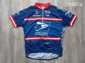 NIKE SUBARU UNITED STATES POSTAL SERVICE Cycling Professional Shirt Man Size XL