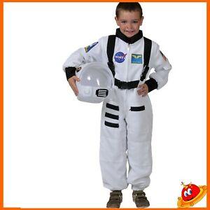 Carnevale Costume tuta bianca da Astronauta Tg da 3 a 14 anni