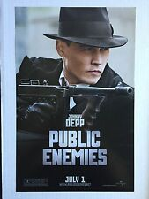 PUBLIC ENEMIES 11x17 MOVIE PROMO POSTER Johnny Depp, Christian Bale